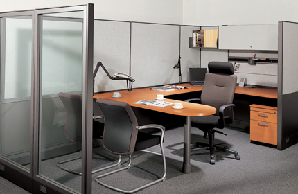 Office cubicles handling and arranging fursys for Office arrangements small offices